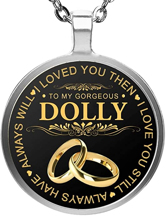 to My Barbara I Met You FamilyGift Valentines Day Necklaces for Her I Liked You Heart Necklace Pendant Necklace with Message for Women I Love You Im Keeping You