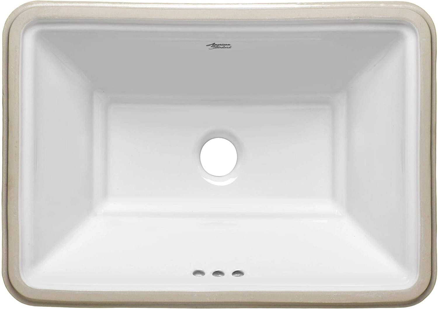 American Standard 0483.000 Estate 19-3 4 Undermount Fireclay Bathroom Sink with, White