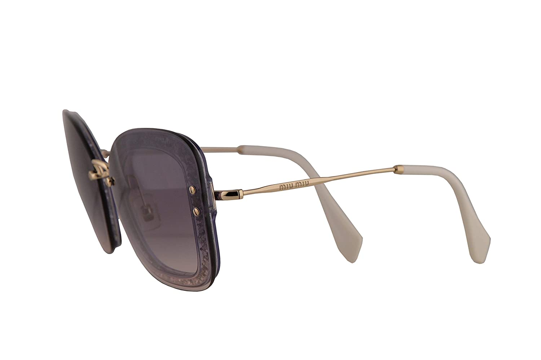 1fde877bba5b Amazon.com: Miu Miu MU02TS Sunglasses Transparent Dark Violet Glitter w/Pink  Gradient Dark Violet 65mm Lens 86LNJ0 MU 02TS SMU 02TS SMU02T: Clothing