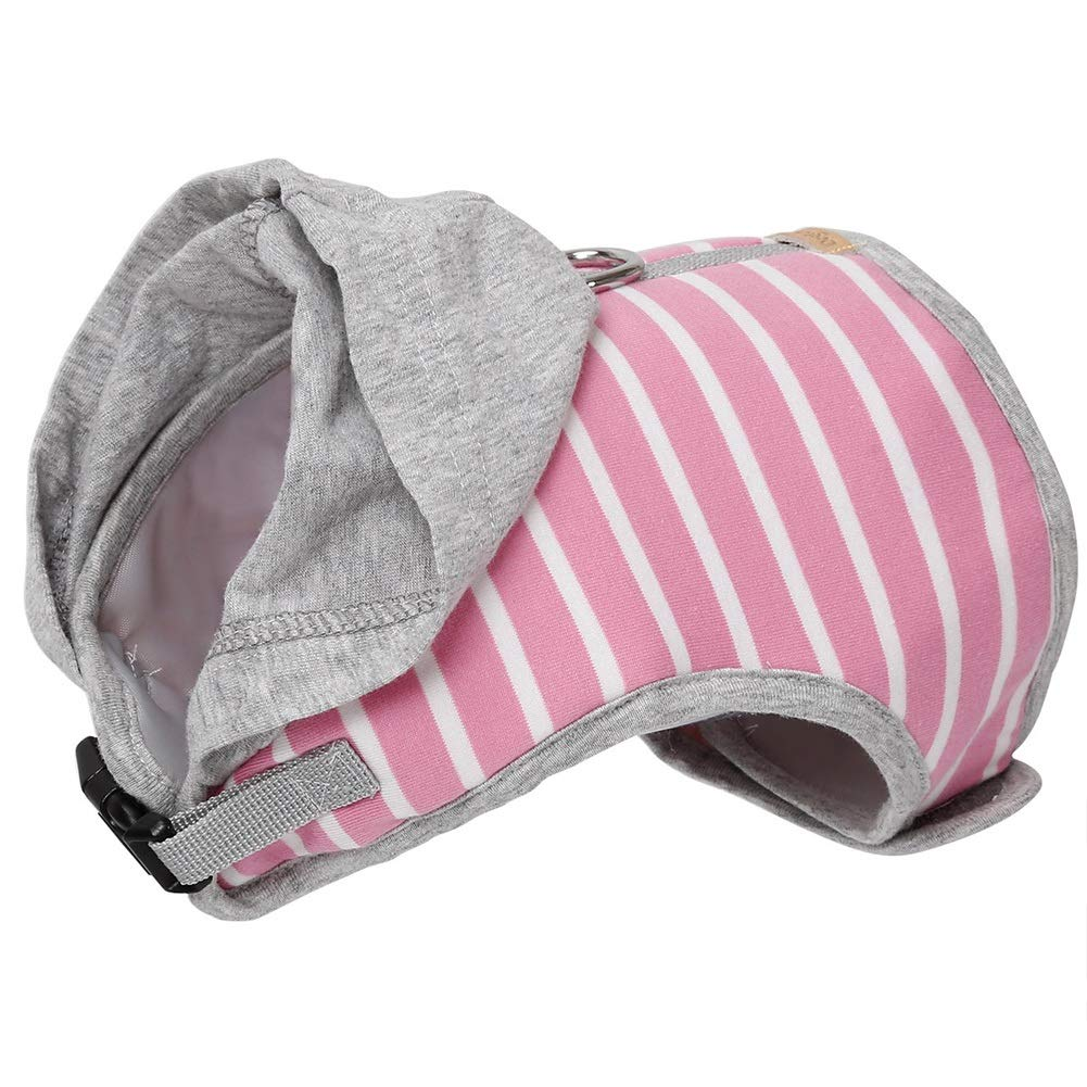 Pink XS Chest=26cm-34cm 10.2\ pink XS Chest=26cm-34cm 10.2\ QBLEEV Pet Cat Harness Vest with a Metal D-Ring for The 126cm 49.6  Long Leash for Kittens Kitties Puppies,Hoodie Cats Dog Jackets Clothes Apparels Striped Patterns Sponge Padded Fashion