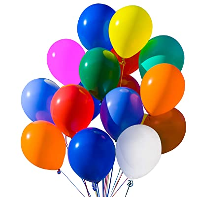 Novelty Place Party Balloons, Bright and Assorted Colors 12 Inch 100 Pcs Latex Balloons for New Year's eve, Wedding, Children Birthday Party Decorations: Toys & Games