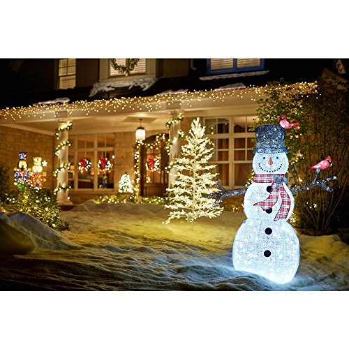 Home Accents Holiday 72IN 240L LED ACRYLIC SNOWMAN WITH 2 RED BIRDS by Home Accents Holiday (Image #4)