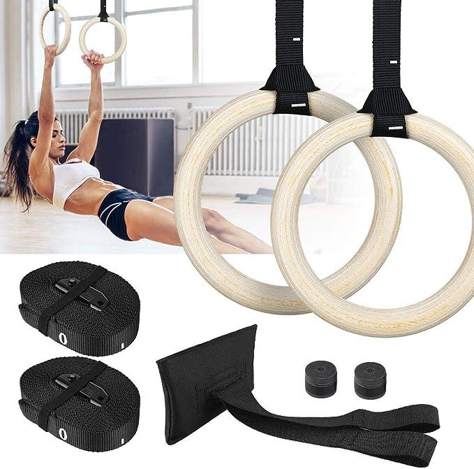 Fitnessstudio Gymnastik Holz Ring Fitness 1 Paar Klimmzug Procircle Langlebig