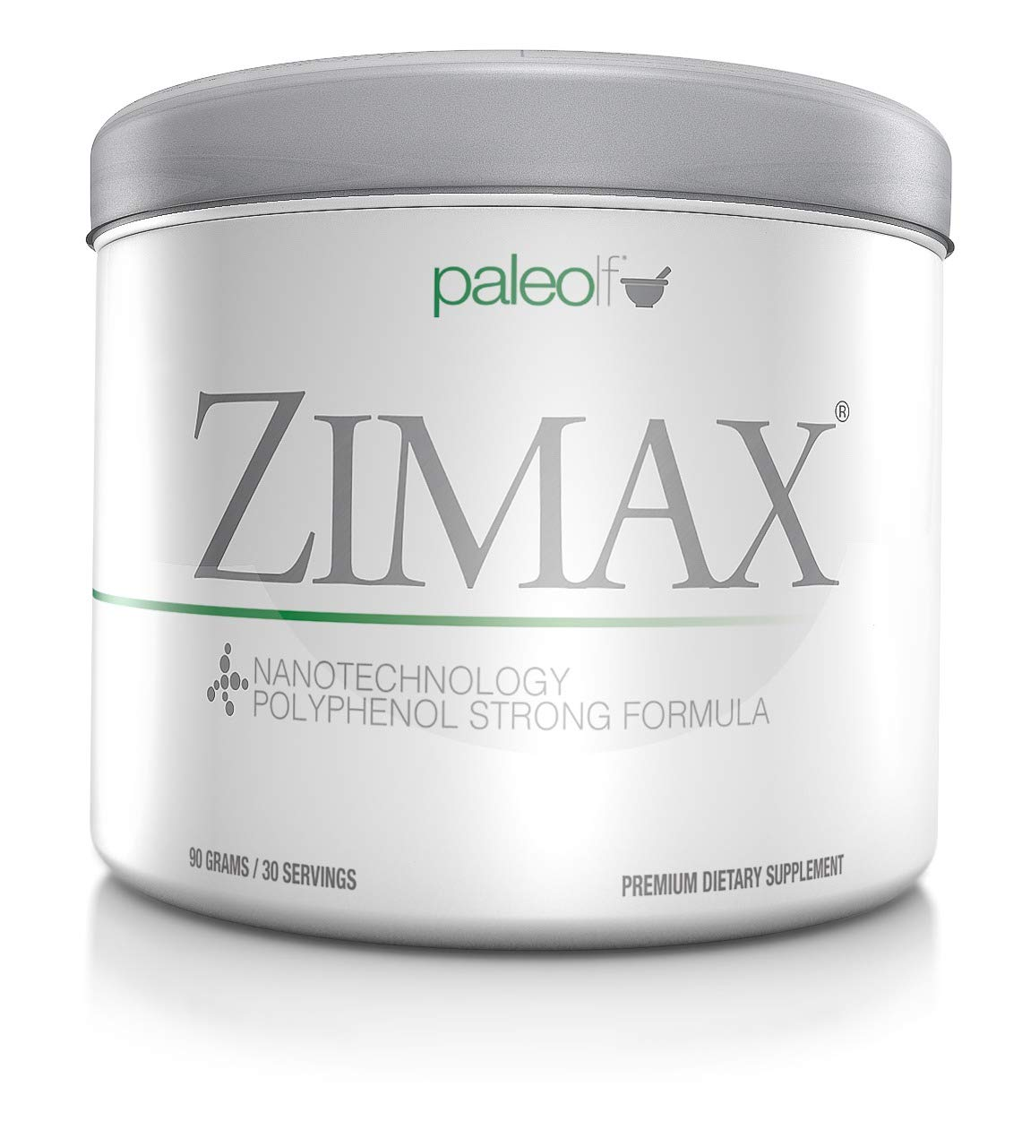 Zimax Super Antioxidant 100% Natural High Absorption Curcumin, Rosemary Extract, Grape Seed Extract, Olive Leaf Extract ORAC 3,451,770 (Canister) by Paleolf (Image #1)