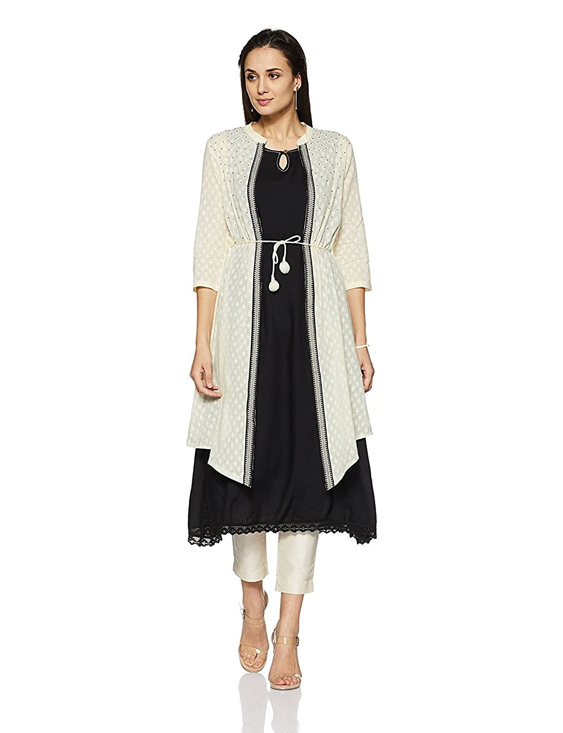 Indian Handicrfats Export Imara Women's Straight Kurta (Size  S)