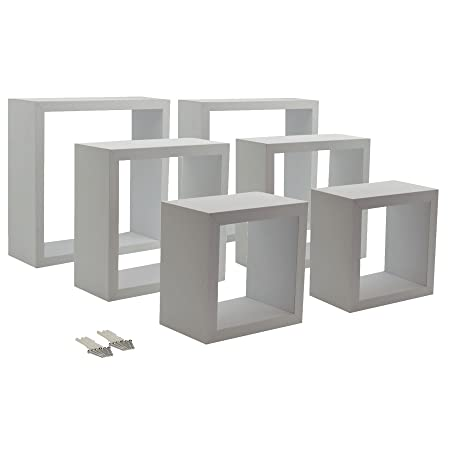 Harbour Housewares White Square Floating Box Shelves 40 Different Adorable White Square Floating Shelves