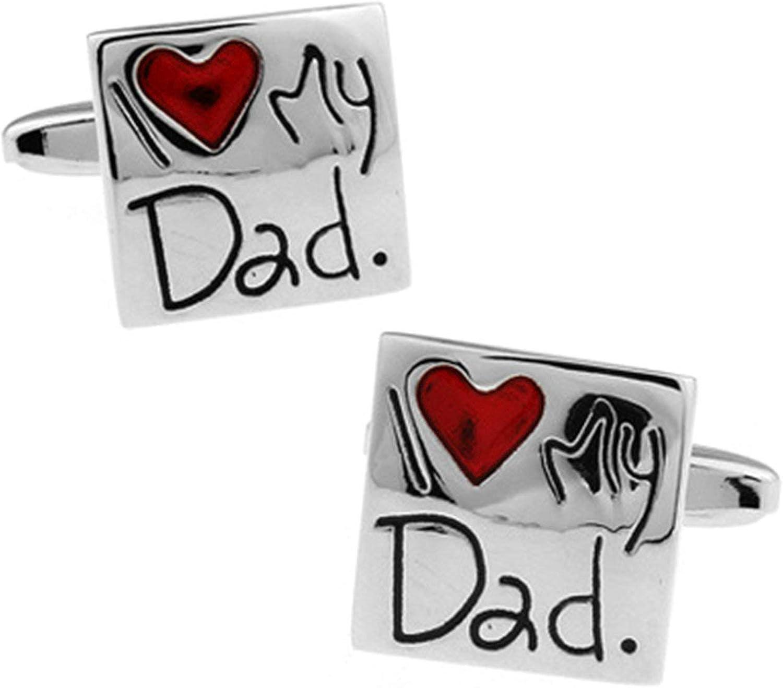 AYDOME Gemelos Camisa España Gemelos de Hombregemelo Hombre Gemelo Cuadrado Grabado I Love My Dad Gemelo Camisa Hombre Rojo Plata: Amazon.es: Joyería