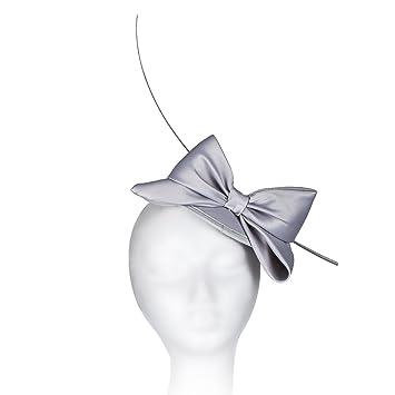 Janeo Middleton Style Mini Domed Pill Box Bow Fascinator Hat in Satin  Fabric. Mini Round fffba30f4d0