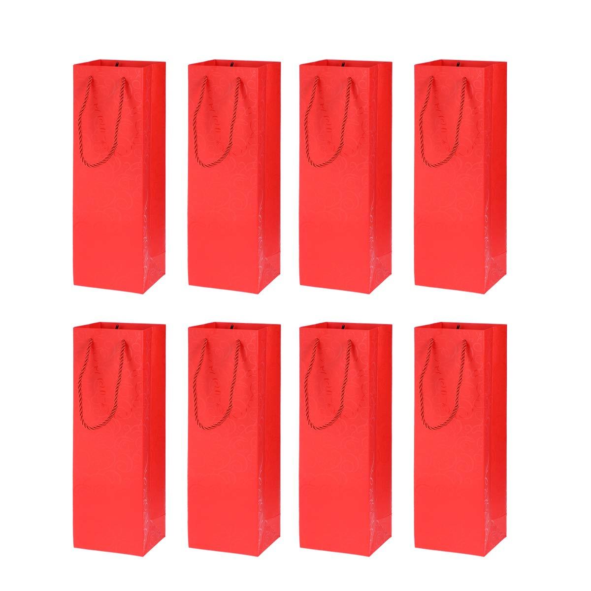 rot 36 x 12 x 9cm BESTonZON 8 St/ück Premium Weinflaschen Geschenkt/üten Geschenkt/üten mit Griffen f/ür Weihnachten Wein Geschenke