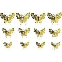 3D Mariposas Decorativas 12 piezas mariposas pegatinas DIY extraíbles Mural Decalques Papel para el Hogar Murales de…