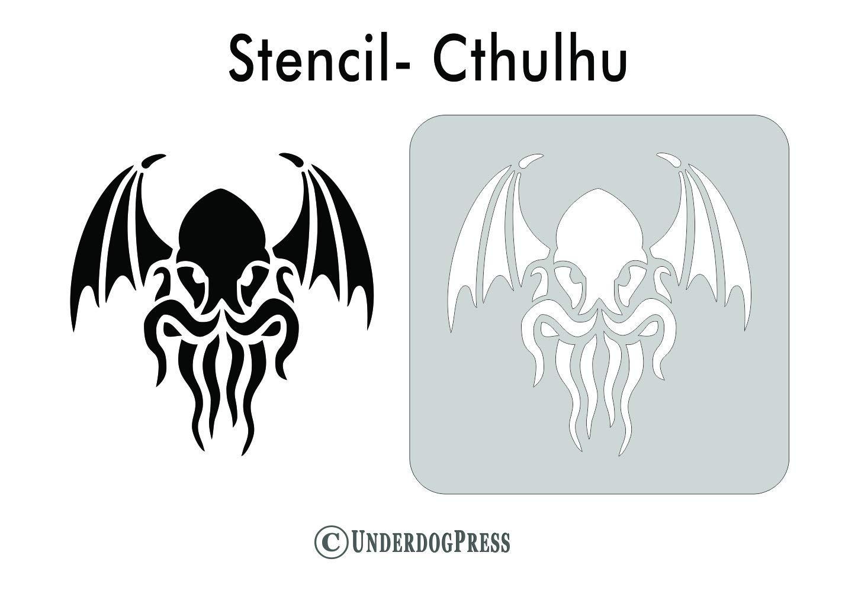 Pick a Size Stencil Cthulhu
