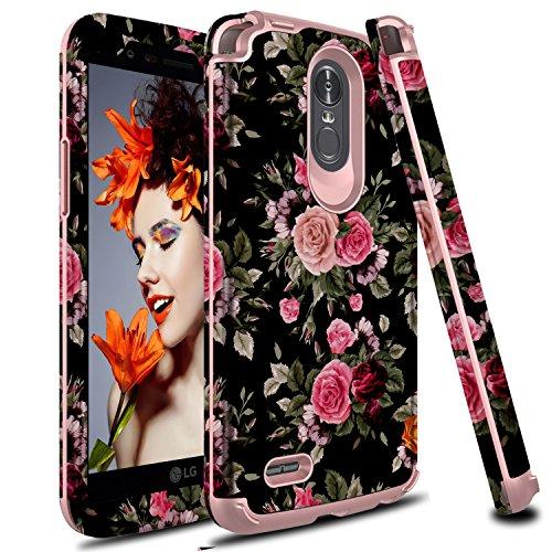 LG Stylo 3 Case, LG Stylus 3 Case, Zenic 3 in 1 Hybrid Shockproof Hard Protective Case Cover for LG Stylo 3/Stylus 3/LS777 (Flower)