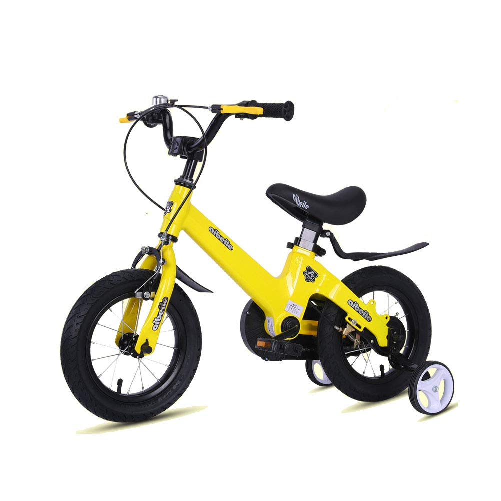 compras de moda online amarillo 1-1 Bicicleta para niños Ligero Aleación Aleación Aleación de magnesio Freno de Disco Doble Niño Niña 16 Pulgadas A  los clientes primero