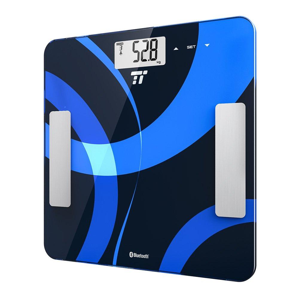 Körperfettwaage TaoTronics Personenwaage Gewichtswaage Digitale Körperwaage  Mit App Anbindung Zum Messen Von Gewicht, BMI, Fett, Wasser, Muskeln, ...
