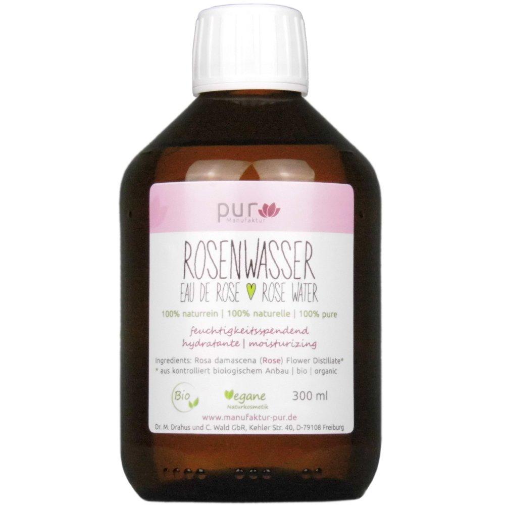 300ml auténtica Rose Agua bio Organic Rose Water 100% naturreines de rosas hydrolat Dr. M. Drahus und C. Wald GbR