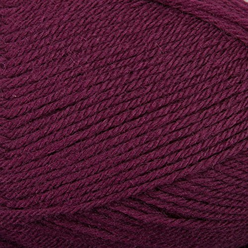 Plymouth Galway 100% Wool (Plymouth Galway Worsted Yarn Eggplant 0092)