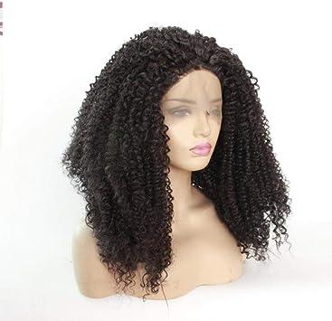 Cabello peluca ondulada corta negro 20 pulgadas densidad ...