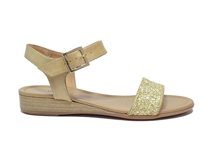 NERO GIARDINI Sandali scarpe donna gold 7600 mod. P717600D