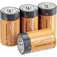 AmazonBasics D Cell 1.5 Volt Everyday Alkaline Batteries - Pack of 4