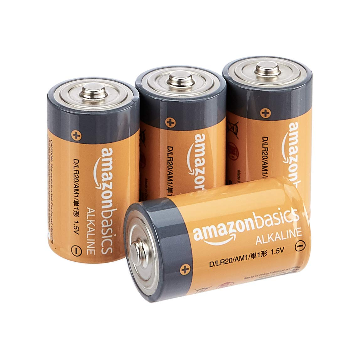 AmazonBasics 4-Pack D Cell Everyday Alkaline Batteries $4.71 Coupon