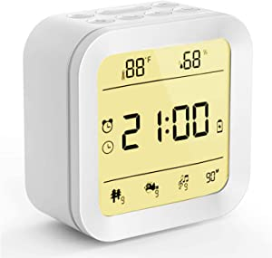 White Noise Machine,6 in 1 Portable Sleep Sound Machine for Sleeping Baby Adult with 27 Soothing Sound&Night Light&Alarm Clock&Temp&Humidity for Home Travel Office Privacy&Noise Canceling