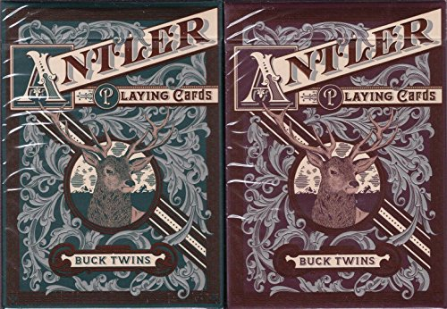 Antler 2 Deck Set Playing Cards Poker Size USPCC Dan & Dave Buck Twins Custom by Dan & Dave