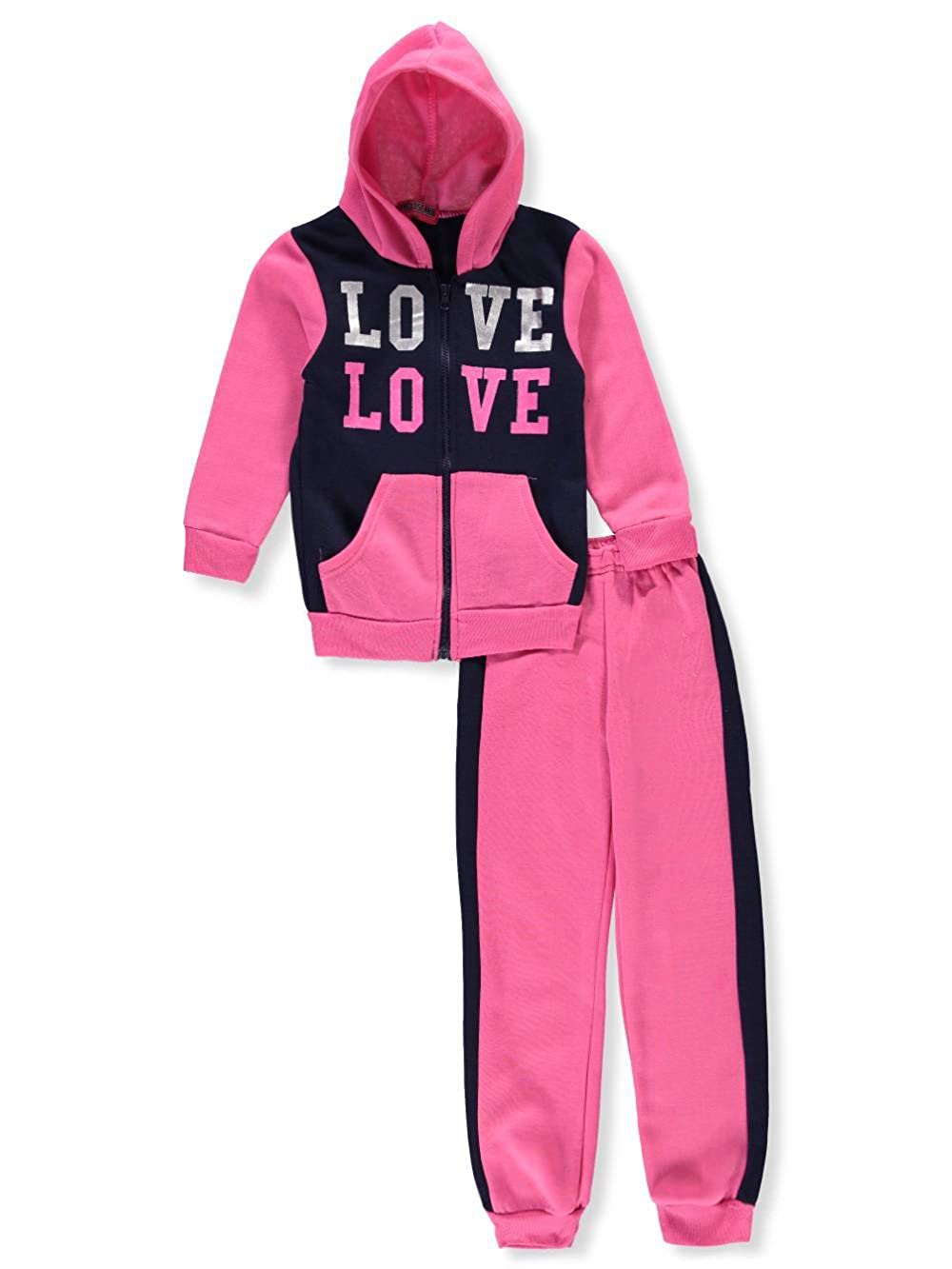 Coney Island Girls' 2-Piece Sweatsuit Pants Set