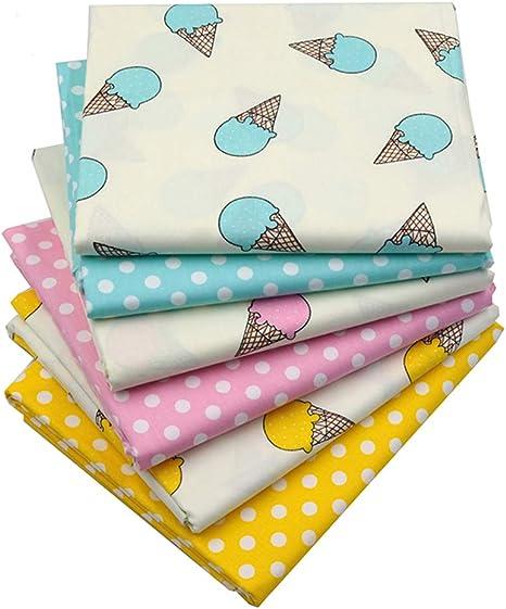 Tela de algodón con estampado de lunares, multicolor, tela de ...