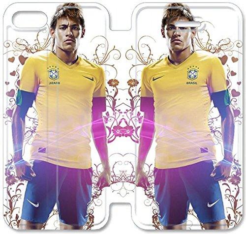 Flip étui en cuir PU Stand pour Coque iPhone 5 5S, bricolage 5 5S cas de téléphone cellulaire Neymar 3 H2J3SD Cheap Coque iPhone étuis en cuir avec livraison gratuite