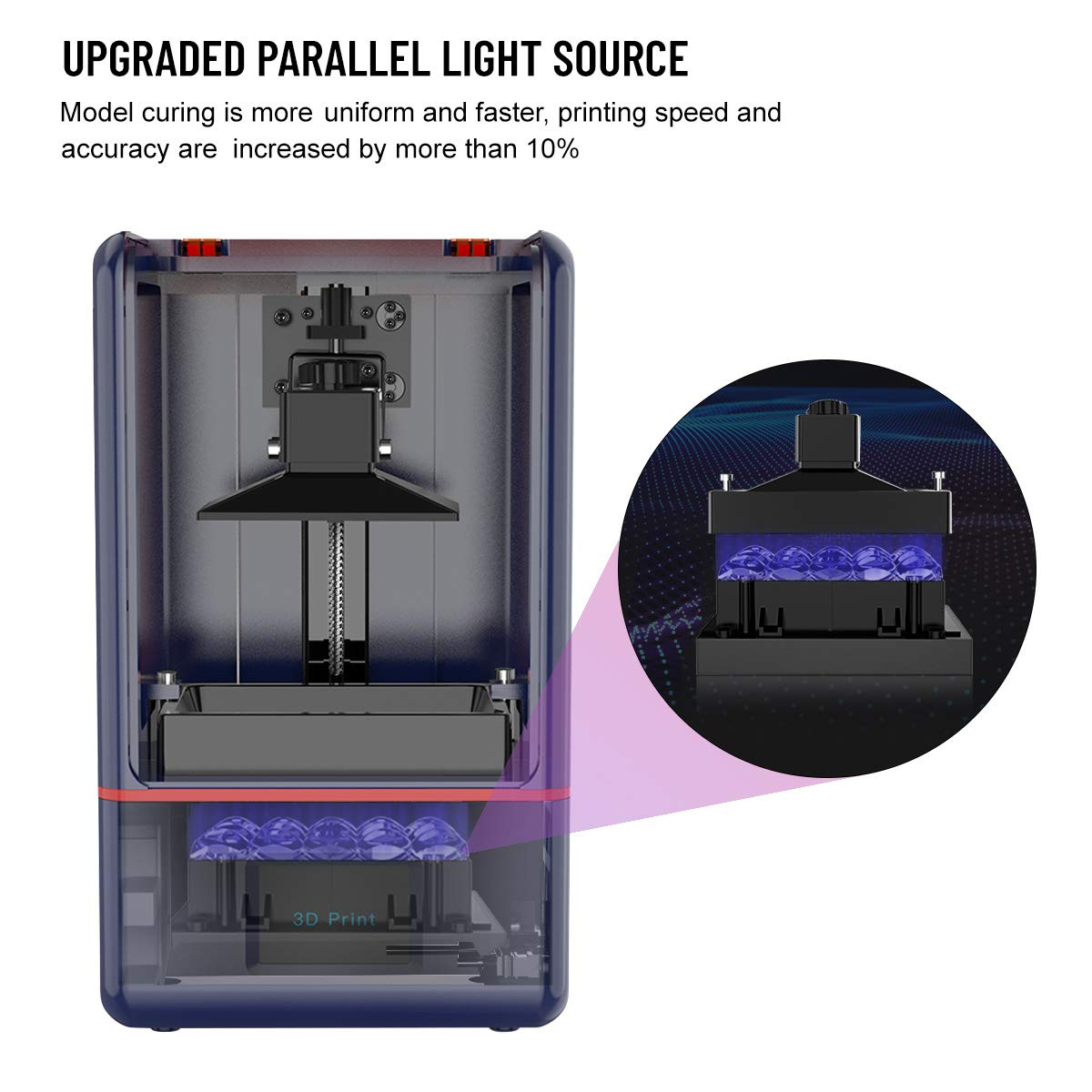 x 2.36in Z-axis Dual Linear Rail /& Off-line Print 4.72in Weistek LCD 3D Printer UV Photocuring 3D Printer with Parallel Matrix 405nm UV Light x 6.10in W 5.5inch 2K Screen Printing Size L H