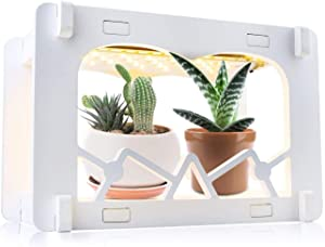 Led Indoor Herb Garden Kit Plant Grow Light Full Spectrum LED Indoor Small Plant Light with 3 Timing Settings and 10 Dimming Level DIY Decoration for Children Christmas