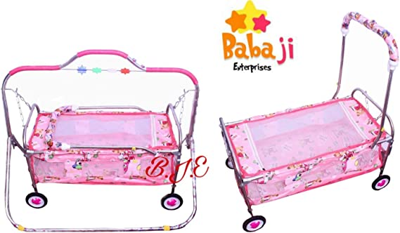 baba ji enterprises Cradle/Jhula Swing with Mosquito Net for Baby