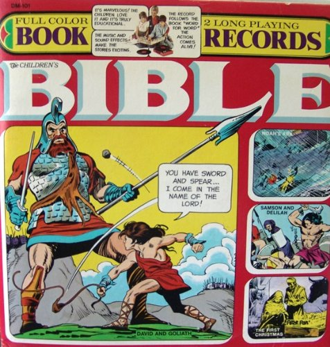 The Children's Bible Full Color Book / Record : David and Goliath, Noah's Ark, Samson and Delilah, The First Christmas by Peter Pan Records