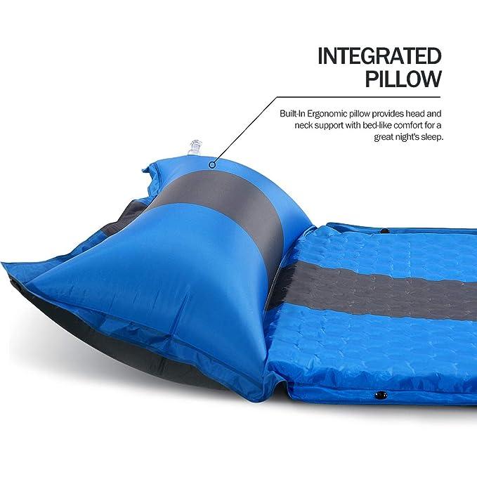 Amazon.com: MOVTOTOP - Almohadilla hinchable para acampada ...
