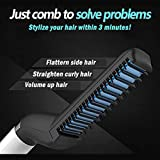 Quick Hair Styler For Men - Tenlso Pro Curling Iron & Side Straighter Hair Comb Hairdresser - Volumize Hair - Multifunctional Curler Hair Styling Tools