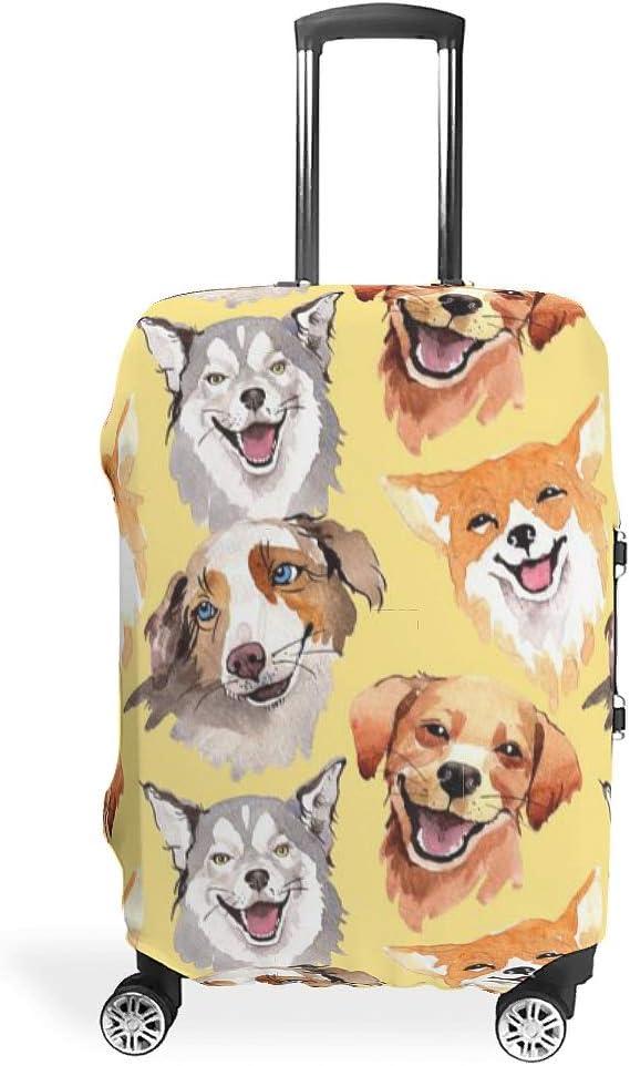 RNGIAN - Funda protectora para maleta de perro con impresión 3D Blanco blanco xl(30-32 inch)
