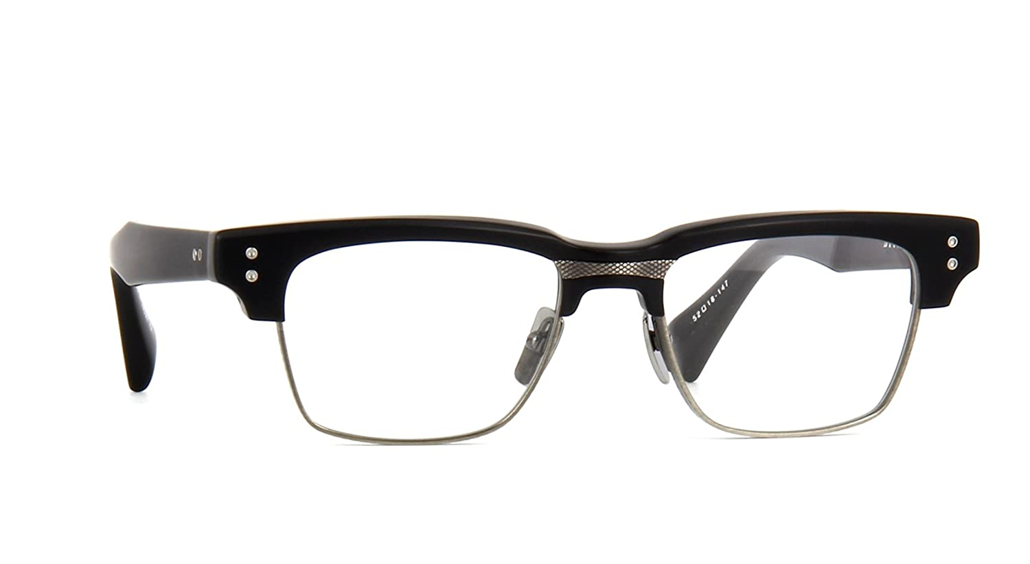 1789f4f993b5 Amazon.com  Dita GRAND RESERVE TWO DRX2061A 52mm Eyewear Matte Black -  Antique Silver  Clothing