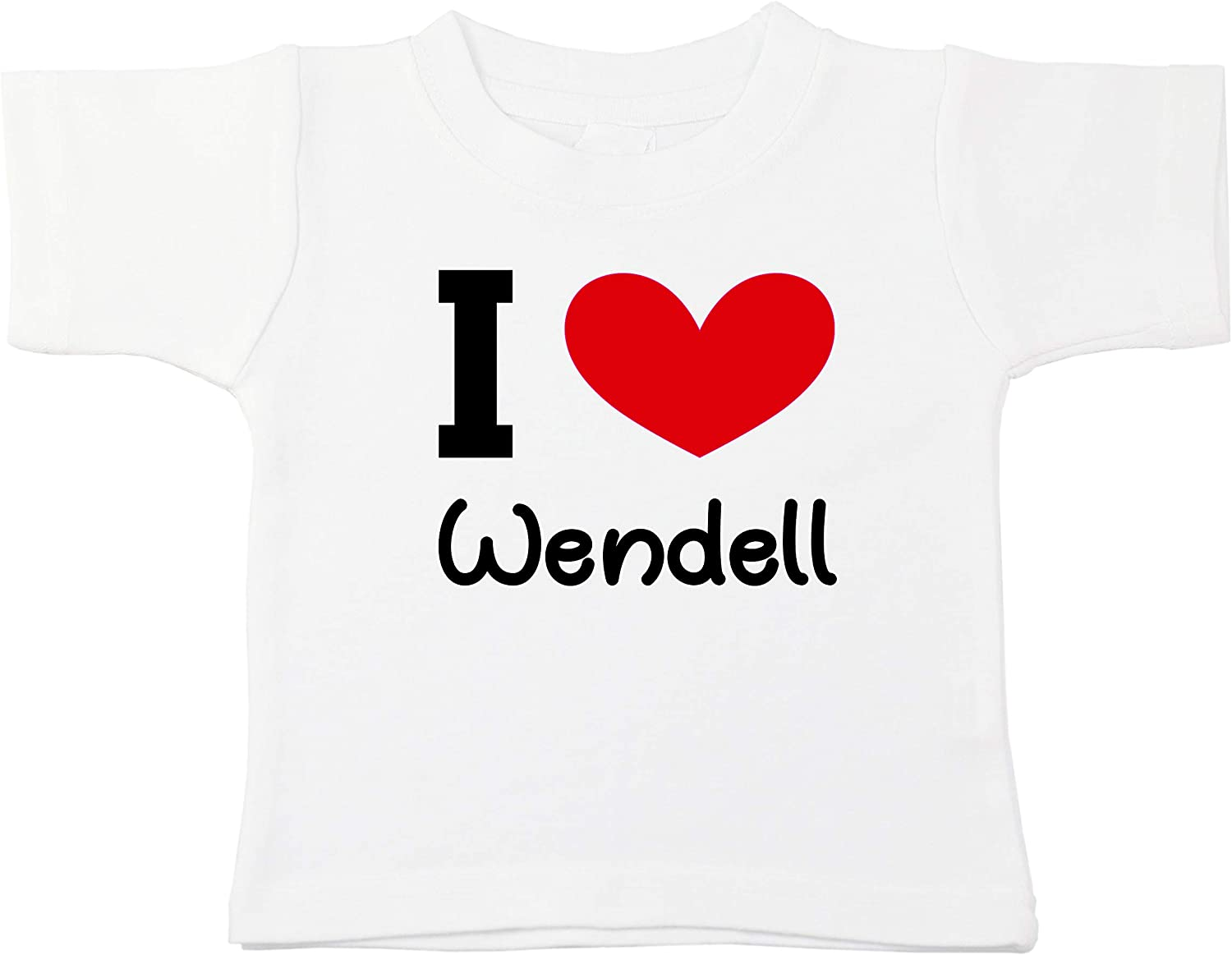 Kinacle I Love Wendell Personalized Baby//Toddler T-Shirt