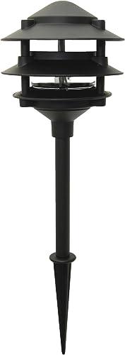 Moonrays 95725 Low Voltage Path Lighting Made of Diecast Aluminum 3-Tier Design