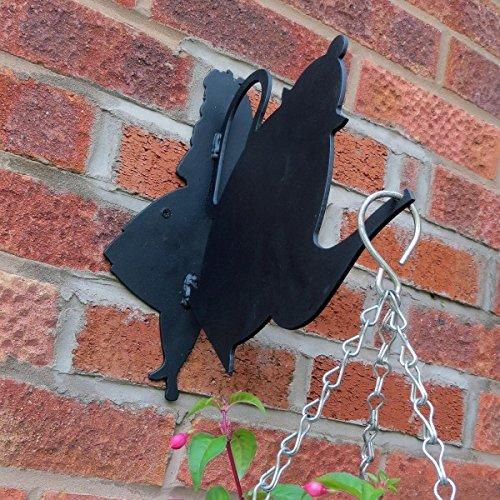 New Made O'Metal Alice In Wonderland Teapot Garden Decor Hanging Basket Bracket Made O'Metal