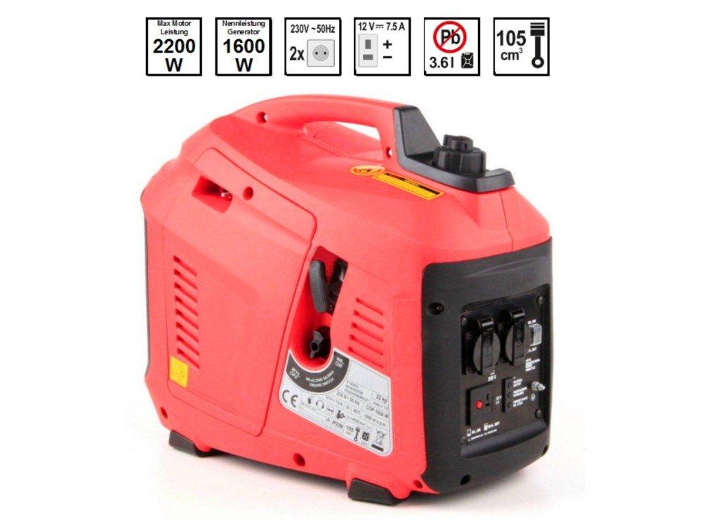 Stromerzeuger Strom-Generator Not-Stromaggregat Inverter 4-Takt Benzin-Motor 2,2 KW 230 Volt