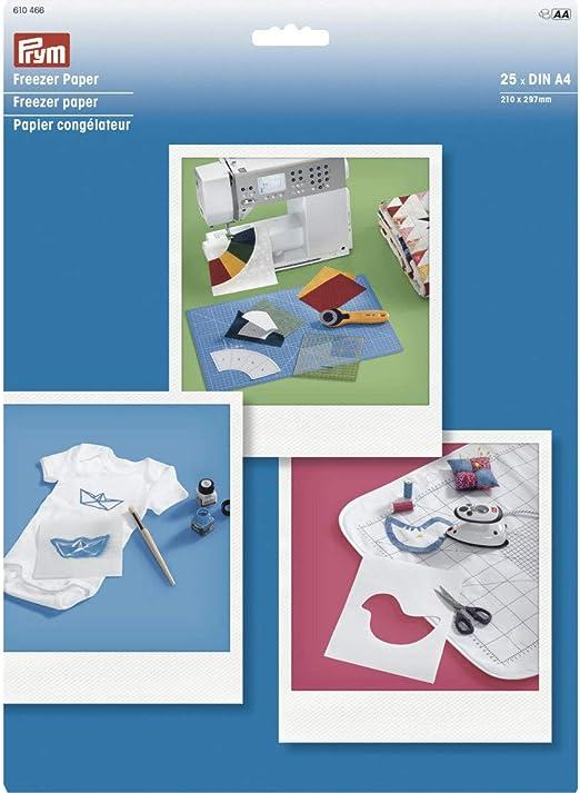 Prym - Papel para congelador DIN A4, 25 hojas, color blanco, talla ...