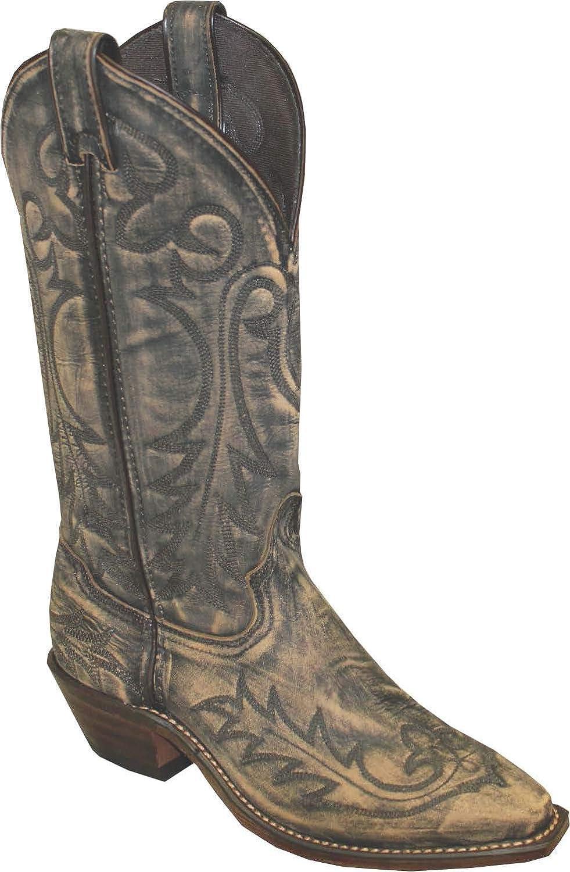1 1//4 Western Heel Snip Toe Genuine Leather Outsole Size 9 Abilene 9088 12 Sanded Tan Cowhide