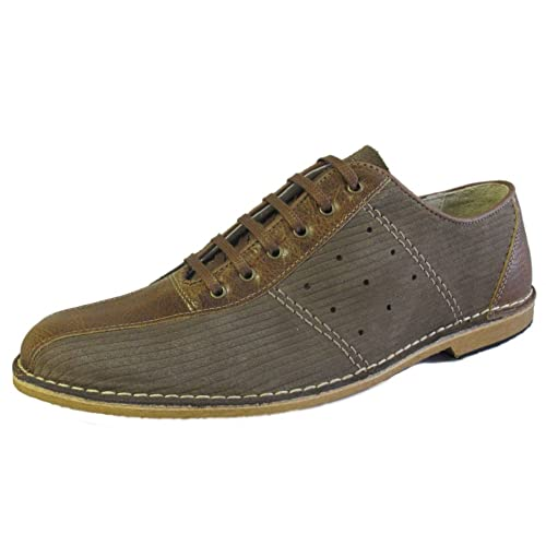 low priced 093f8 f6819 Delicious Junction Mens Brown Corded Bowling Shoe Size 11 UK 45 EU