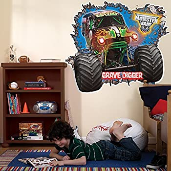 amazon com monster jam room decor grave digger giant wall decals