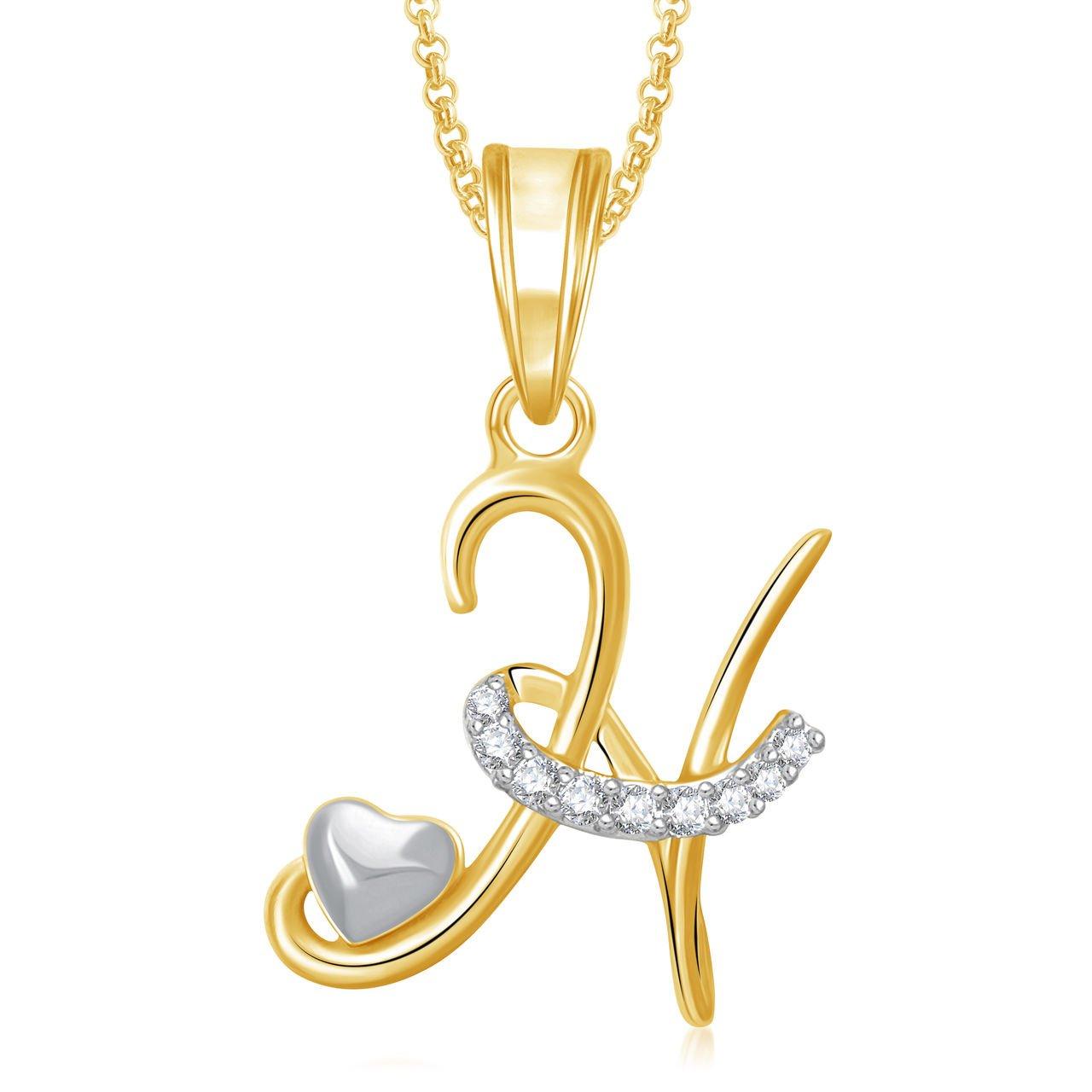 H Letter Images.Meenaz Jewellery Gold Plated H Letter Pendant For Girls Women Men Unisex Alphabet Heart Pendant For Women In American Diamond Crystal Jewellery Set