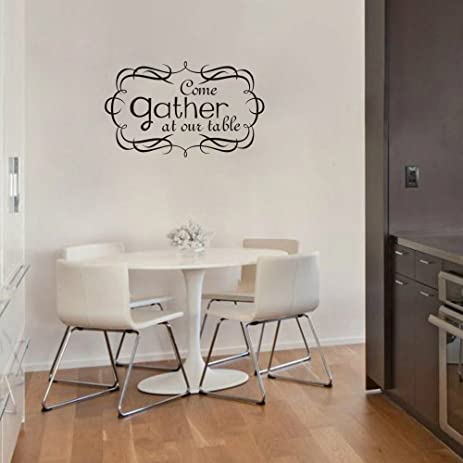 Come Gather At Our Table Kitchen Wall Decal Vinyl Lettering Wall Words Kitchen  Vinyl Wall Art