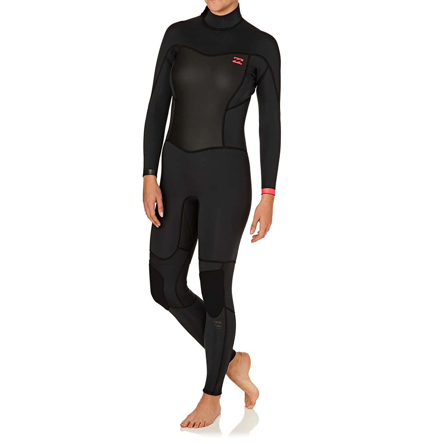 d78470a4fe BILLABONG Ladies Synergy 3 2mm Back Zip Flatlock Wetsuit in Black Sands  C43G01  Amazon.co.uk  Sports   Outdoors