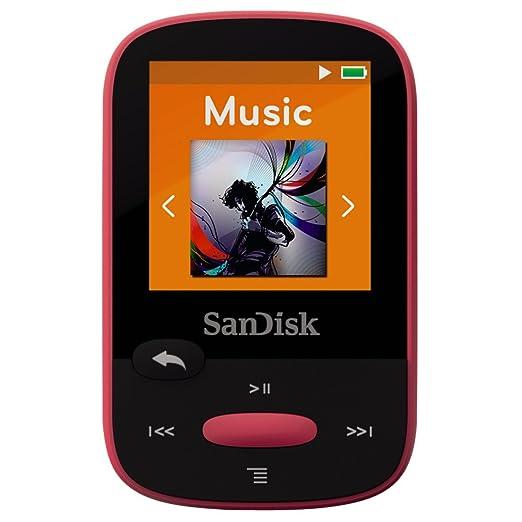324 opinioni per SanDisk Sansa Clip Sport Lettore MP3 8 GB, Rosa