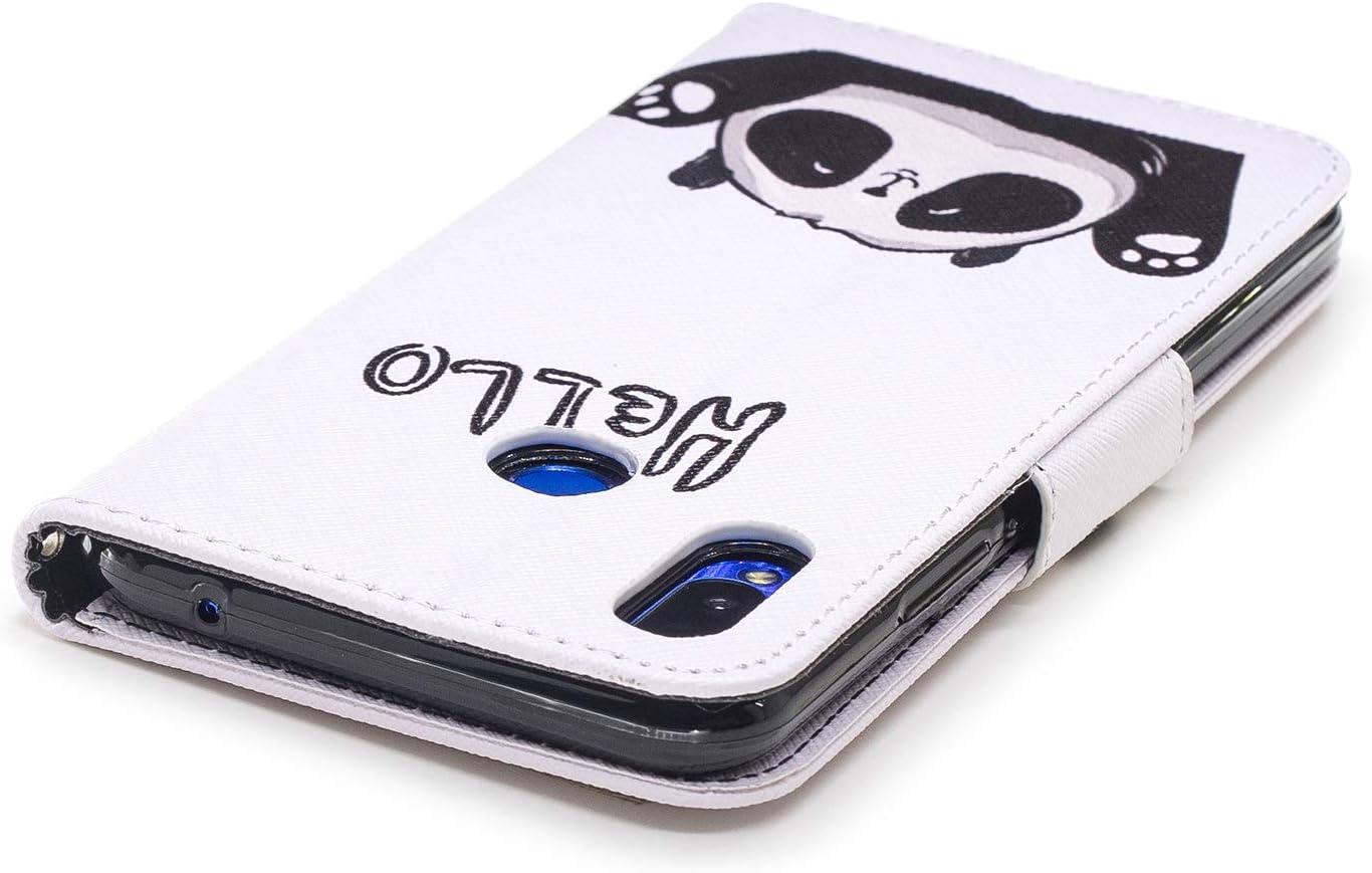 2018 LOBFE13990#8 Huawei Nova 3i // P Smart+ Lomogo Leather Wallet Case with Kickstand Card Holder Shockproof Flip Case Cover for Huawei Nova3i//P Smart Plus Case